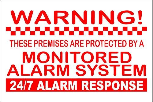 Eigentum Alarm System überwacht Warnung Sicherheit stickers-home/Business Schilder 150mm x 100mm (System Warnung Alarm)