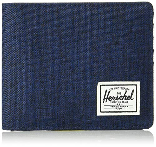 Herschel Roy Plus Coin XL RFID Wallet Medieval Blue Crosshatch/Medieval Blue -