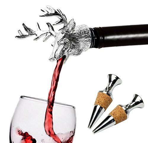 FREEMASTER Kellner Korkenzieher Flaschen öffner Kellner Messer Wine Opener Weinflaschen öffner Wein und Bier (Silber) -