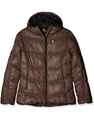 Peak Mountain Ansei - Abrigo de plumas para mujer, Mujer, color marrón, tamaño FR : 2 (Taille Fabricant : 2)