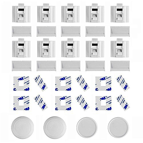 Preisvergleich Produktbild Linkax Kindersicherung Babysicherheit Magnetisches Schrankschloss Schranksicherung Kindersicherheit Baby Magnetschloss Schubladensicherung(10 Schlösser+ 2 Schlüssel)