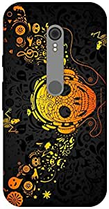 The Racoon Lean Musical Skull hard plastic printed back case / cover for Motorola Moto G Turbo