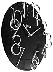 Idea Regalo - LOWELL 14536 Quartz Wall Clock Cerchio Nero