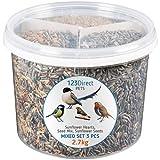 2.7 Kg - 3 in 1 Set misto Miscela di semi per uccelli selvatici di alta qualità per il giardino | Semi di girasole + Miscela di semi per uccelli selvatici di qualità + Semi di girasole sgusciati