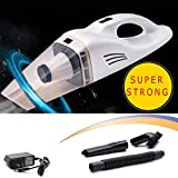 XCQHSHI Chargeable Car Vacuum Cleaner High Power Wireless Portable Vacuum Cleaner Rechargeable Wet and Dry Dual-Use