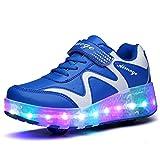 Unisex Schuhe mit Roller Skate ein Rad Schuhe Skateboard Boys Mädchen Erwachsene Led Lights Sports Sneaker