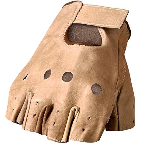 Fingerlose Handschuhe Leder braun uni non-homologuées dieses - Handschuhe Motorrad Indian