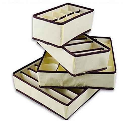 LUFA BH Unterwäsche Schublade Organizer Aufbewahrungsboxen Dessous Socken Krawatte Aufbewahrungsboxen (4 Stück) -