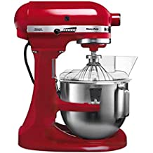 KitchenAid 5KPM5EER - Batidora amasadora, 315 W, 264 x 338 x 411 mm, color rojo