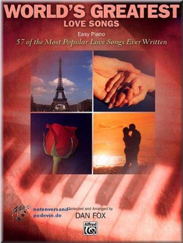 WORLD'S GREATEST LOVE SONGS (Easy Piano) - Klaviernoten [Musiknoten]