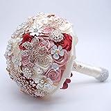 GAFAGAFA Bouquet De Mariée Fleur Perle Mariée Bouquet De Mariée Demoiselles d'amour Valentine Floral