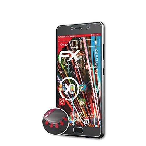 atFolix Schutzfolie passend für Lenovo P2 Folie, entspiegelnde & Flexible FX Bildschirmschutzfolie (3X)