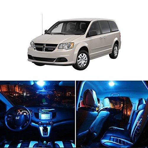 partsam-2008-2015-dodge-grand-caravan-ice-blue-interior-led-package-kit-license-plate-light-11-piece