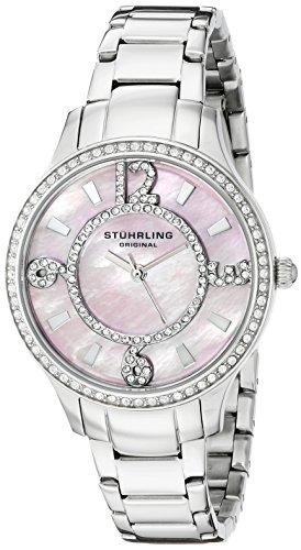 Stührling Original Chic - Reloj de cuarzo, para mujer, con corea de acero inoxidable, color plateado