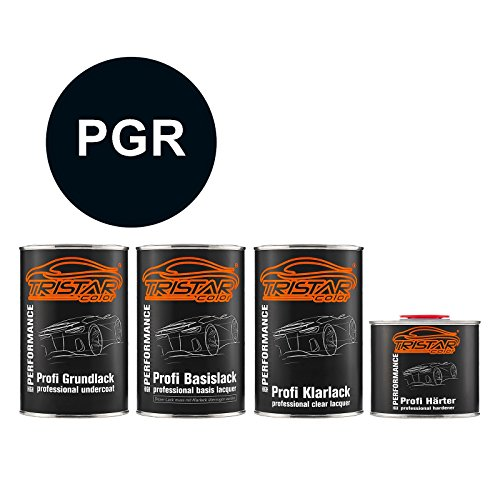 Preisvergleich Produktbild TRISTARcolor Autolack Set Dose spritzfertig für Chrysler / Dodge / Jeep / Plymouth / Viper PGR Anaconda Green Perl Grundlack + Basislack + 2K Klarlack 3, 5L