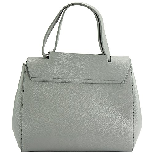 BORSA A MANO GAIA IN VERA PELLE DI VITELLO MADE IN ITALY 9111 Grigio