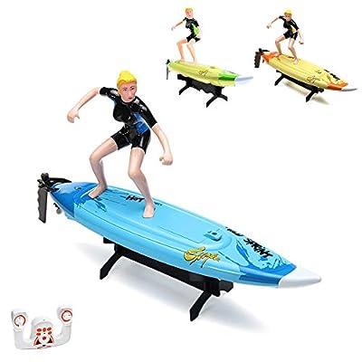 2.4GHz Bateau RC Surfer avec télécommande au volant, bateau, hors-bord, Speed Bateau Modèle de Construction, Ready to Run, Top Speed avec batterie, produit neuf