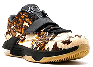 pretty nice 1efd4 2bfec ... Nike Mens KD VII 7 EXT QS Pony Hair Longhorn State Black Sail  716654-001 US 9