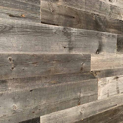 Holz Wandverkleidung mit 3d Paneelen aus verwittertem und recyceltem alten Holz von Nordje® ... (Grau)