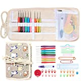 Damero ergonomico Uncinetti Set, Grip Crochet Needles-Knitting & Uncinetto Accessori Kit, Cartoon Cats