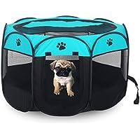 Campfine Plegable Portátil Parque de Mascotas Uso en Interiores/Exteriores -8 Panel, Resistente al Agua