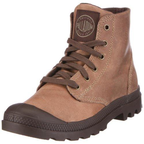 PalladiumPampa Hi Leather - Sneaker alta Uomo , Marrone (Braun (WALNUT)), 44