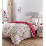 "Catherine Lansfield ""Home"" Bettwäsche Set Blumen Canterbury - Bunt - Double/Doppel"