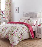 Catherine Lansfield 'Home' Bettwäsche Set Blumen Canterbury - Bunt - Double/Doppel