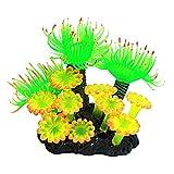 FiedFikt Plantes artificielles pour Aquarium en résine Corail Déco Aquarium Accessoires Plantes Vertes Ornement 1 pièce