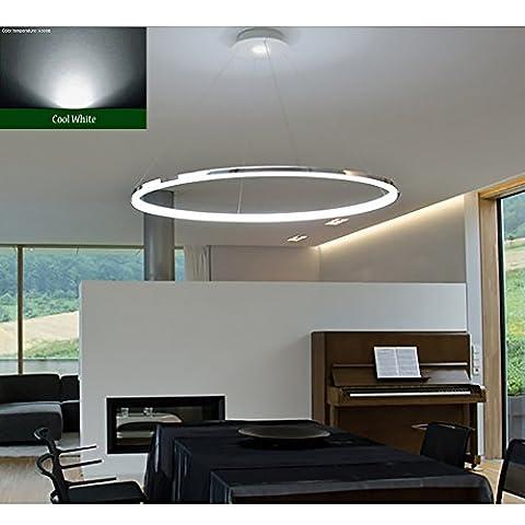 """Saint Mossi Exklusives Design Modernes Rundschreiben Led Kronleuchter Verstellbares Hängelicht Tania Collection Modernes Deckenpendelleuchte H55 """"X D23.6"""" Mit Kaltweiß Lichtquelle"""