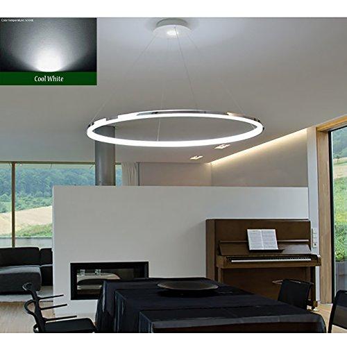 Moderne 4-licht Pendelleuchten (Saint Mossi Exklusives Design Modernes Rundschreiben Led Kronleuchter Verstellbares Hängelicht Tania Collection Modernes Deckenpendelleuchte H55