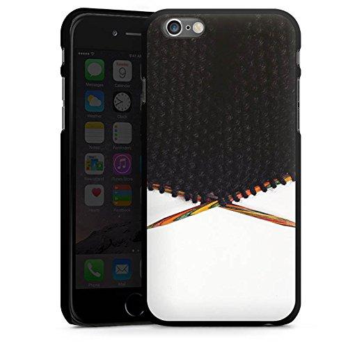 Apple iPhone 5s Housse Outdoor Étui militaire Coque Laine Noir Motif CasDur noir