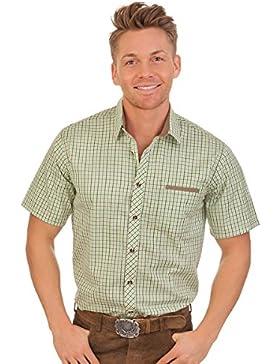 Trachten Herren Hemd mit 1/2-Arm - EMIRAT - grün