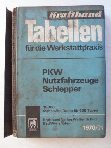Tabellen für die Werkstattpraxis - PKW Nutzfahrzeuge Schlepper 1970/71