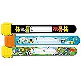 Sigel SY423 - Pulseras de identificación infantiles kids ID, diseño: balón, aviones, monstruo, 3 unidades19.7 cm