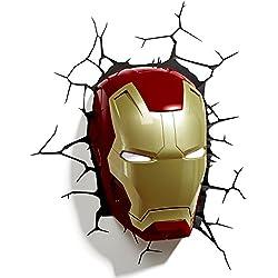 3D Light Applique Murale à LED en Forme de Casque Iron Man FX Marvel