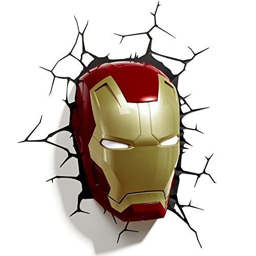 3D Light Applique Murale à LED en Forme de Casque Iron Man FX Marvel
