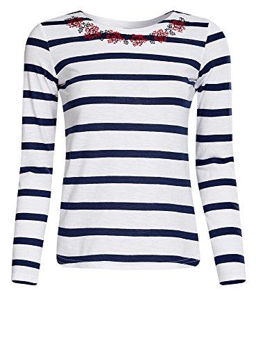 oodji-ultra-femme-t-shirt-avec-broderie-et-manches-longues-blanc-fr-44-xl