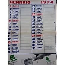 Calendario Anno 1974.Amazon It Anonimo Calendari E Agende Libri