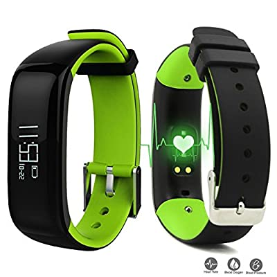 ROGUCI Smart Fitness Tracker Bracelet Wristband with Step Counter / Calories Burned / Sleep Monitoring and Alarm Clock,Incoming Call & SMS Alert Push Notifications Reminders,Compatible with IOS/Android Smartphones from Dax-Hub