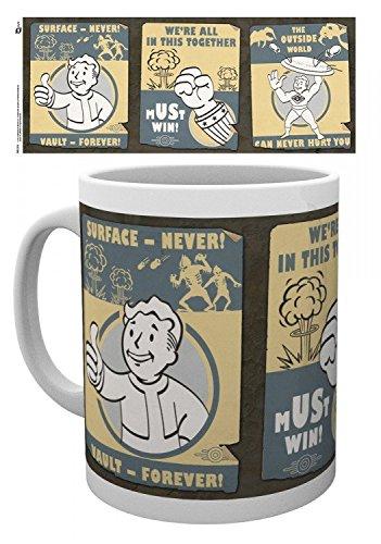 Fallout - 4, Surface Never, Vault Forever Tazza Da Caffè Mug (9 x 8cm)