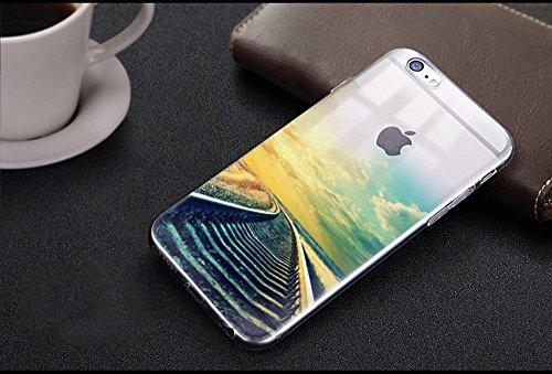 Coque iPhone 8 Silicone TPU Coque de Protection pour iPhone 8 Paysage Créatif Souple Motif Landscape Etui Housse de Protection, Sunroyal Premium Ultra Mince Case Cover Bumper pour iPhone 8 4.7 Pouces  Paysage 24