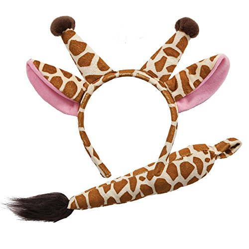 Animal Ears & Tail Set - Giraffe Kids Fancy Dress (Giraffe Kostüm Kinder)