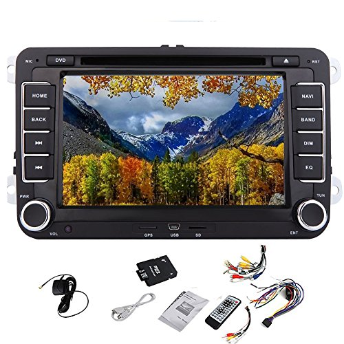 Bluetooth Auto-DVD-Spieler Video Pupug Auto DVD GPS Logo Video Player GPS-Autoradio Navigation Stereoradio Headunit F¨¹r AUX VW Volkswagen Golf Amarok T5 Jetta Video EOS Caddy Polo 7-Zoll-PC Auto-Radioger?t CD 2DIN Spieler Multi-Media-BT in Deck TV FM AM RDS Autoradio