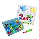 Mosaique Enfant Jeu Construction Puzzle Enfant 3 Ans et Plus Mosaique Loisir Creatif Puzzle Mosaique Bloc Construction Jouet Montessori Jouets Cadeaux d'apprentissage pour Enfants