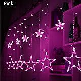 LED-Licht Stern Lichterketten Lichterkette String Batterie Ball Licht Sterne Warmweiß Sterne Licht Net Rot Dekorative Im Freien Licht Im Freien Licht String Glühbirnen, Wasserdichte Lichterkette