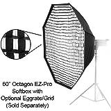 Fotodiox eZPro - 60–oct-nisson profi studio solutions eZ pro - 60 boîte à lumière octogonale et adaptateur speedring diffuseur souple/nissin di866 connexion pour flash