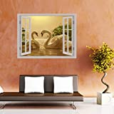 Best Duck Posters - Creatick Studio Two Ducks Window Illution Wall Poster Review