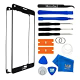 MMOBIEL Front Glas Reparatur Set für Samsung Galaxy Note 3 N9000 N9005 Series (Schwarz) Display Touchscreen mit 11 tlg. Werkzeug-Set inkl passgenauem Klebe-Sticker / Pinzette / Saugnapf / Metall Draht / Tuch
