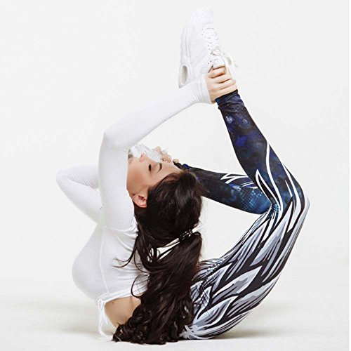 Leggings Covermason Womens Wing imprimé Yoga Skinny Leggings d'entraînement Fitness Sports Cropped Pants Bleu